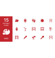 15 sing icons vector image vector image