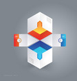 abstract 3d cubic infographic vector image vector image