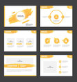 Abstract Orange presentation templates Infographic vector image
