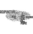 acupuncture ancient needle work as pain relief vector image vector image