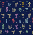 alcohol cocktail signs seamless pattern background vector image