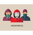 Anonymous hacker team vector image