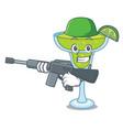 army margarita character cartoon style vector image vector image