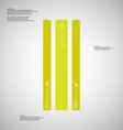 Bar template consists of three green parts on vector image vector image