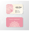 Beautiful business name card template vector image