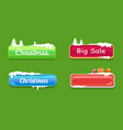 big sale christmas glossy web push buttons in snow vector image vector image