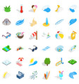 big water icons set isometric style vector image vector image