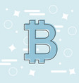 bitcoin concept cryptocurrency logo sigh digital vector image