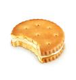 Bitten cookie vector image