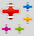 blank attached cross labels vector image vector image