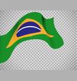brazil flag on transparent background vector image