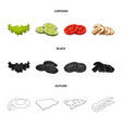 burger and sandwich logo vector image