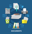 business items composition vector image vector image