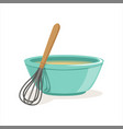 ceramic bowl full of freshly prepared dough vector image vector image
