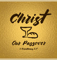 christ our passover vector image vector image