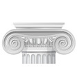 classical order ionic capital vector image vector image