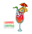 cocktails one cartoon 9 vector image