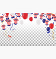 croatian balloons with countries flags of vector image