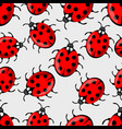 cute ladybug on white background ladybird vector image vector image