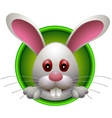 cute rabbit head cartoon vector image vector image