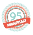 Cute Template 95 Years Anniversary with Balloons vector image vector image