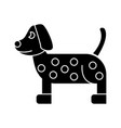 dog dalmatian icon sign o vector image vector image