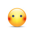 face emoji without mouth cartoon silent vector image