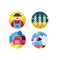 Farming set icons vector image vector image