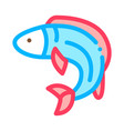 fish icon outline vector image vector image