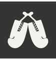 Flat in black and white mobile application boxing vector image vector image