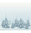 forest winter landscape vector image