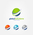 global solutions logo sign symbol icon vector image