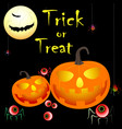 halloween treak or treat vector image vector image
