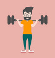 handsome guy strong with muscles in a t-shirt an vector image