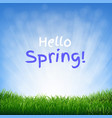 hello spring poster vector image vector image