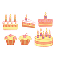 holiday cakes vector image vector image