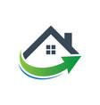 home business arrow contruction logo vector image vector image