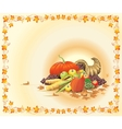 hot and bright thanksgiving postcard vector image vector image
