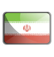 iran flag on white background vector image vector image