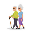 lovely couple walk white nice couple people vector image