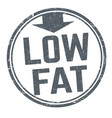 low fat sign or stamp vector image vector image