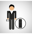 man smartphone and news microphone design vector image vector image