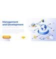 management and development - banner layout vector image vector image