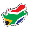 map of south africa with its flag vector image vector image