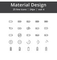 material design battery line icons vector image