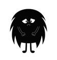 monster silhouette happy halloween cute kawaii vector image