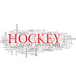 nhl word cloud concept vector image vector image