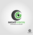 night vision camera logo vector image