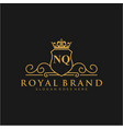 nq letter initial luxurious brand logo template vector image vector image