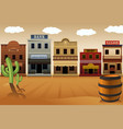 old western town vector image vector image